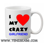 I love my crazy girlfriend-чаша